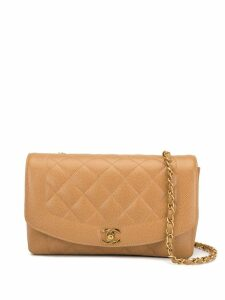 Chanel Pre-Owned Diana chain shoulder bag - Brown