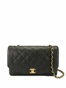 Chanel Pre-Owned Diana chain shoulder bag - Black