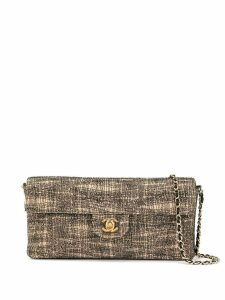 Chanel Pre-Owned stitching texture CC shoulder bag - Neutrals
