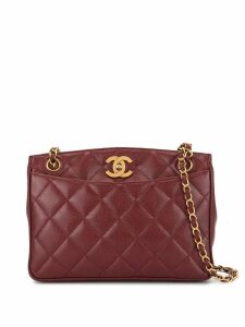 Chanel Pre-Owned diamond quilted shoulder bag - Red