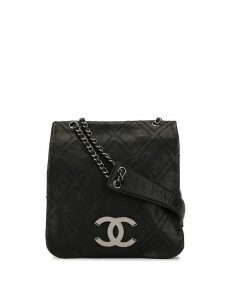 Chanel Pre-Owned Jumbo XL quilted crossbody bag - Black