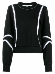 No Ka' Oi stitching detail performance sweatshirt - Black