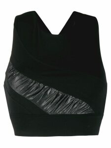 No Ka' Oi criss-cross back sport top - Black