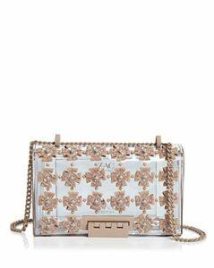 Zac Zac Posen Earthette Floral Applique Convertible Shoulder Bag