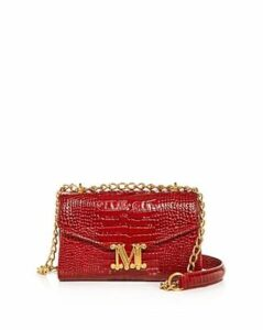 Max Mara Linda Croc-Embossed Leather Shoulder Bag
