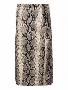 Dsquared2 Python Print Midi Skirt