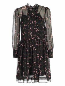 Emporio Armani Dress L/s Giraffe Print