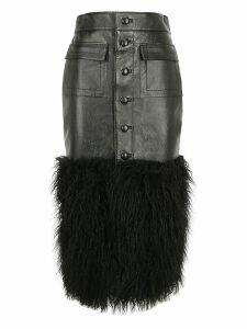 Saint Laurent Leather Skirt