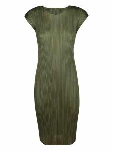 Pleats Please Issey Miyake Pleated Midi Dress