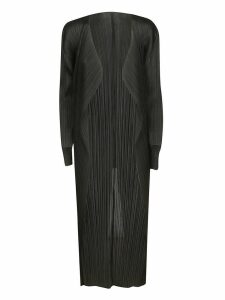 Pleats Please Issey Miyake Pleated Open Long Cardigan