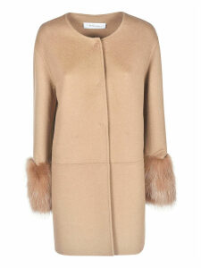 Bully Long Sleeve Furred Cuff Coat