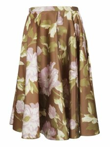 Rochas Floral Skirt