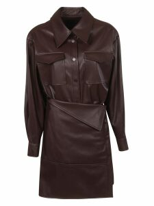 Low Classic Asymmetric Shirt Dress