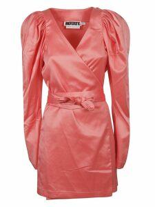Rotate by Birger Christensen V-neck Belted Dress
