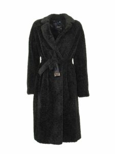 Max Mara Agiato Teddy Black Coat