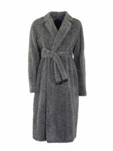 Max Mara Grey Teddy Bear Coat