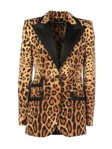 Dolce & Gabbana Blazer With Animalier Print Single-breasted