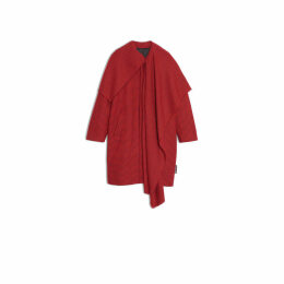 Balenciaga Scarf Coat 3/4 Sleeves Check