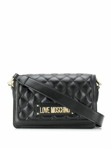 Love Moschino quilted logo shoulder bag - Grey