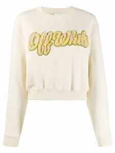 Off-White Shearling Emb Sweatshirt