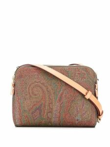 Etro paisley print crossbody bag - Brown