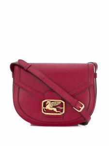 Etro Pegasus plaque shoulder bag - Red