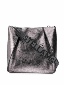 Stella McCartney logo cross-body bag - Silver