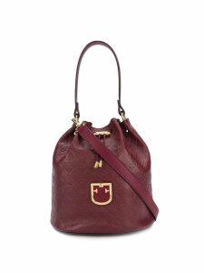Furla logo embossed bucket bag - Red