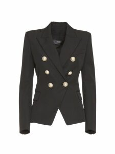 Balmain Double-breasted Blazer In Black