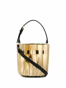 Sara Battaglia accordion pleat bag - Gold