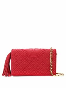Tory Burch quilted logo crossbody bag - Red