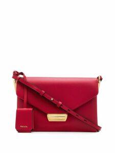 Prada logo envelope shoulder bag - Red
