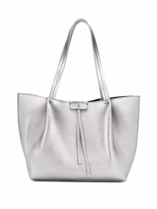 Patrizia Pepe medium shopping bag - Silver