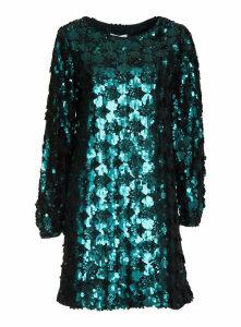 Essentiel Bottle Green Sequined Mini Dress