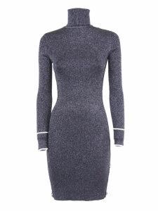 Off-White Black Lurex Longuette Dress