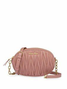 Miu Miu matelassé nappa leather bandoleer bag - Pink