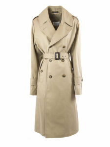 Maison Margiela Light Brown Cotton Blend Trench Coat