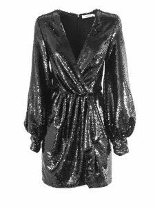 Amen Black Sequined Mini Dress