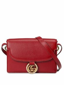 Gucci GG ring shoulder bag - Red