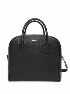 Burberry Medium Leather Cube Bag - Black