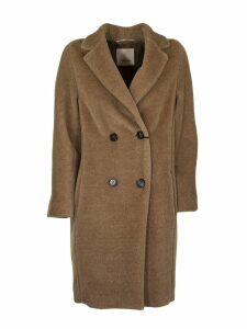 Max Mara Double-breasted Coat In Alpaca Blend