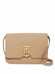 Burberry Small Grainy Leather TB Bag - Neutrals