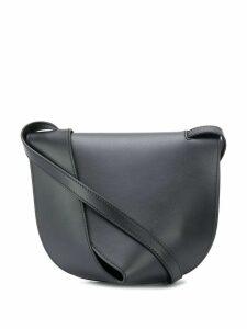 Giaquinto layered leather shoulder bag - Black
