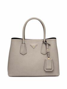 Prada Double small leather bag - Grey