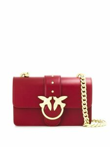 Pinko plaque-embellished shoulder bag - Red