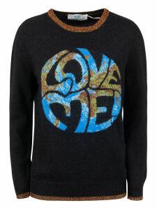 Alberta Ferretti Love Me! Earth Print Sweater