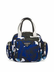 Prada Padded nylon top-handle bag - Blue