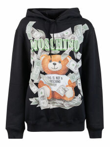 Moschino Cash This Is Not A Toy Bear Print Hoodie