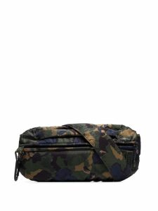Ganni camo print belt bag - Green
