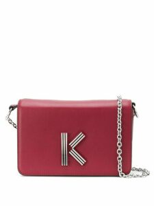 Kenzo logo plaque cross body bag - Red